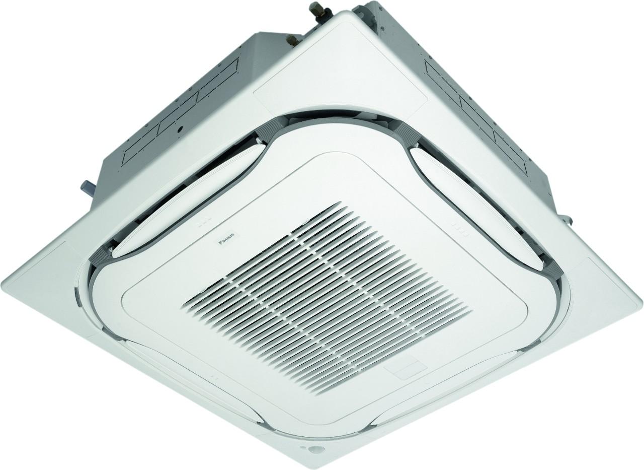 Climatiseur Daikin avec cassette encastrable réversible inverter FCAG100A.